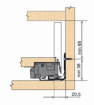 Gamme tiroir LÉGRABOX : LÉGRABOX hauteur M : 106 mm - blanc soie mat