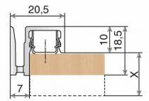 Crémaillère et console - Sofadi - pas de 37 mm : Habillage mural avec fixateur métallique pour consoles