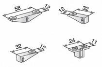 Crémaillère et console - Sofadi - pas de 37 mm : Cavalier pour consoles DM - DMA - DMP - DMAP - ST et CMO