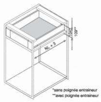 Gamme tiroir LÉGRABOX : LÉGRABOX hauteur M : 106 mm - gris orion mat
