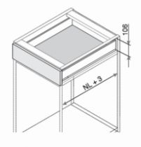 Kit tiroir double paroi Blum - LEGRABOX - BLUMOTION : Noir terra mat