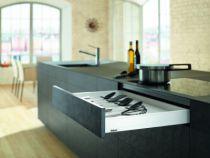 Gamme tiroir LÉGRABOX : LÉGRABOX hauteur N : 80 mm - blanc soie mat