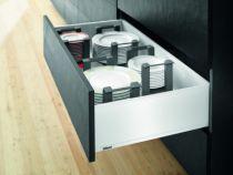 Kit tiroir double paroi Blum - LEGRABOX - BLUMOTION : Blanc soie mat