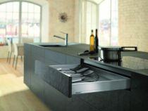 Gamme tiroir LÉGRABOX : LÉGRABOX hauteur N : hauteur 80 mm - inox