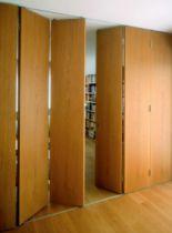 Coulissant pliant pour porte intérieure bois : Variofold 80/H / 80 kg - avec ou sans rail bas