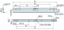 Coulisse à bille et bois : Jeu d'équerre DB 633 pour glissières 2132 / 3732 et 3832