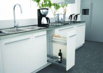 Agencement de cuisine : Bouteilles + pannetière + 2 niveaux de rangement - Sige