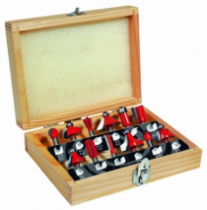 Fraise à bois : Coffret fraise carbure queue ø 8 mm