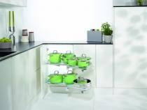 Agencement de cuisine : Kit Le mans II complet avec plateaux Arena Style chromé