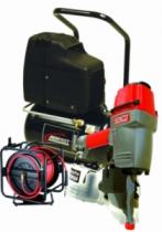 Agrafage et clouage pneumatique : Lot cloueur SCN58A + compresseur + enrouleur 30 m