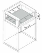 Gamme tiroir LÉGRABOX : LÉGRABOX free hauteur C : 193 mm - blanc soie mat