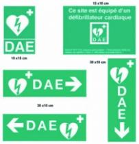 Défibrillateur : Kit signalétique de 5 panneaux pour défibrillateur Telefunken
