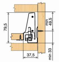 Tiroir complet monté standard Blum - intivo - TIP-ON : intivo TIP-ON blanc hauteur N