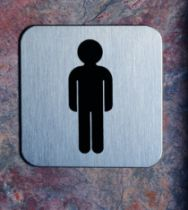 IDEOGRAMME INOX 316 HOMME 125X125MM