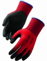 Gants tricotés enduits : PVC avec picots sur support polyamide