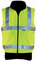 Vêtement de travail : Gilet polaire Hiway réversible