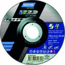 Meule de tronçonnage : 1 - 2 - 3 A 46 S-BF - acier inox