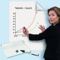 Communication visuelle : Rouleau feuilles blanches effacables - Magic-Chart