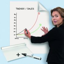 Communication visuelle : Rouleau feuilles blanches effacables - Magic-Chart