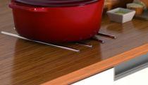 Agencement de cuisine : Jeu de 4 réglettes protège plan de travail