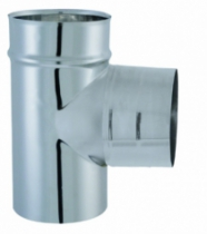 Chauffage : Té 90° Tyral double emboîtement inox 304