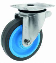 Roulette de manutention : Roue Resilex® grise - Maxi-roll