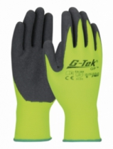 Gants enduits latex : 100% nylon