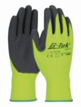 Gants enduits latex : 100% polyester