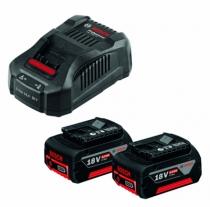 Batterie - chargeur - lampe électro-portatif : Pack 2 Li-Ion 18V 6Ah + chargeur
