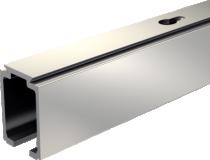 Coulissant porte intérieure bois : Rail alu pour SAF 40 et 80 kg