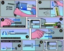 Scellement par injection : Fixation démontable à la résine pour matériaux creux