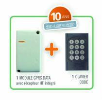 Contrôle d'accès filaire : Récepteur GSM + clavier - Intrabox data mini