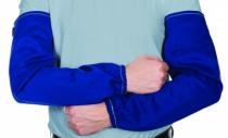 Protection soudeur : Manchette bleu coton ignifugée