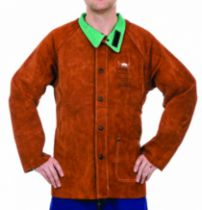 Protection soudeur : Veste cuir dos tissus