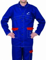 Protection soudeur : Veste bleu ignifugée Fire Fox™