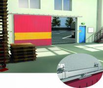 Ferrure de porte coulissante et pliante Mantion : Série Sportub - pour porte de 80 kg - porte à déplacement droit sur profil