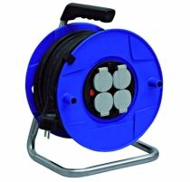 Enrouleur - prolongateur : Enrouleur Bat Pro 25 m HO7RN-F 3G1,5  + projecteur halogène 400 Watts