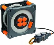 Enrouleur - prolongateur : Enrouleur cube Powerblock - 8 prises - câble HO7RNF