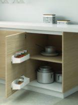 Agencement de cuisine : Jeu 2 bacs plastique blanc pour porte