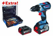 Perceuse-visseuse sans fil : GSR 18 V-60C + 2 batteries et coffret outils Gedore