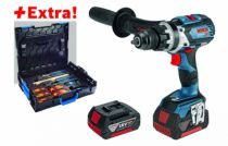 Perceuse-visseuse sans fil : GSB 18V-85C + 2 batteries et coffret outils Gedore