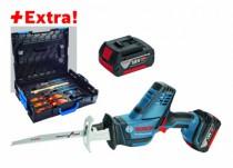 Scie sabre sans fil : GSA 18 V-LI C + 2 batteries et coffret outils Gedore