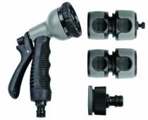 Accessoire d'arrosage et de lavage : Kit pistolet universel - 5 pièces