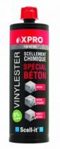 Scellement par injection : Résine vinylester de scellement chimique spéciale béton sans styrène  X-PRO