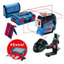 Laser de chantier : laser lignes GLL 3-80 C + visseuse sans-fil GSR 12V-15 + 39 accessoires + i-BOXX + i-Rack