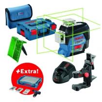 Laser de chantier : laser lignes GLL 3-80 CG + visseuse sans-fil GSR 12V-15 + 39 accessoires + i-BOXX + i-Rack