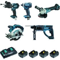Pack machine sans fil : Kit 5 machines 18 volts - DLX5039PTJ - 5.0 A