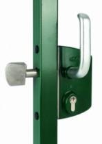 Serrure pour portail coulissant : Serrure pour coulissant sur profil carré ou rectangulaire - LSKZ