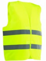 Vêtement de travail : Gilet baudrier de signalisation fluo
