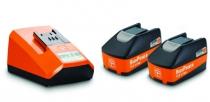 Batterie - chargeur - lampe électro-portatif : Set de démarrage 5,2 Ah HighPower  2 batteries Li-Ion + chargeur ALG 50